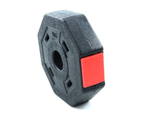 Octagon Vinyl Weight Dumbbell Set with Barbell Bar Easy Clips Black Red 10/15/20/30/40KG 9