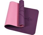 8mm TPE Yoga Mat Exercise Fitness Gym Pilates Non Slip Dual Layer 5