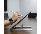 Portable Laptop & Tablet Stand | Pukkr Silver 4