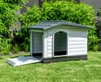 Nevis Condo Plastic Dog Kennel Large - White/Grey 4