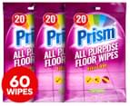 3 x Prism Extra-Large All Purpose Floor Wipes Fresh 20pk 1
