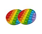 Pop it Sensory Fidget Toy Rainbow Double Pack 1