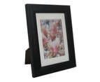 "For 2.5x4"" Photo-Picture Frame Black With Mat Border 1"