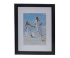"""For 8x12"""" Photo-Picture Frame Black With Mat Border 1"""