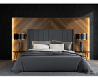 Bed Frame and Mattress Bundle in Super King, King or Queen Size - Mayfair Velvet Charcoal 1