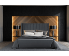 Bed Frame and Mattress Bundle in Super King, King or Queen Size - Mayfair Velvet Charcoal 4