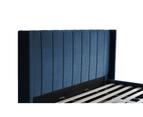 Bed Frame and Mattress Bundle in Super King, King or Queen Size - Mayfair Velvet Blue 4