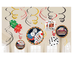 Roll The Dice Casino Hanging Swirl Decorations 12 Value Pack 1