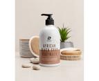 Deluxe African Black Soap Bodywash 500ml - Natural Moisturising Liquid African Black Soap Bodwyash with Coconut & Neem oil 2
