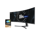 Samsung CRG9 49in 120Hz FreeSync2 Dual QHD Ultra-Wide Curved Gaming VA QLED Monitor LC49RG90SSEXXY 1