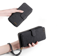 Multi-functional PU leather mobile phone holster wallet phone case for iPhone12 Pro Max-Black 2