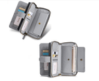 Multi-functional PU leather mobile phone holster wallet phone case for iPhone12 Pro Max-Grey 4