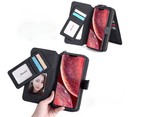 Multi-functional PU leather mobile phone holster wallet phone case for iPhone12 Pro Max-Black 4