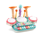 CUTE STONE 5 in 1 Musical Instruments Toys Kids Electronic Piano Keyboard Drum 1