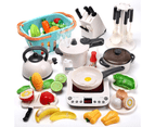 CUTE STONE Kitchen Play Toy with Cookware Playset Steam Pressure Pot Cooktop 1