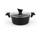 Monheim 6pcs Nonstick Cookware Set Casserole Pot Stockpot Induction Black Metallic 2