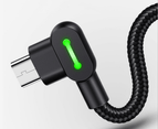 MCDODO LED USB Cable Fast Charging cable for Android(1.2M)-Black 3