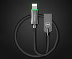 MCDODO 2.4A LED USB Cable Auto Disconnect Fast Charging cable For iPhone-Black 2