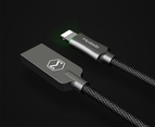 MCDODO 2.4A LED USB Cable Auto Disconnect Fast Charging cable For iPhone-Black 4