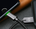 MCDODO 2.4A LED USB Cable Auto Disconnect Fast Charging cable For iPhone-Black 6