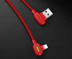 Mcdodo 90 degree usb cable fast charging for iphone (1.8M)-Red 2