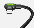 Mcdodo 90 degree usb cable fast charging for iphone (1.2M)-Black 3