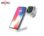 Orotec 10W 2-in-1 Dual Wireless Charging Dock Made for Apple (including Apple Watch Charging) White 1