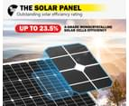 ATEM POWER Pair 12V 130W Solar Panel Kit Mono Generator Caravan Battery Charging 130watt 3