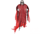 Halloween Life Size Red Reaper Hanging Prop Decoration 1