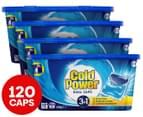 4 x 30pk Cold Power 3 in 1 Laundry Detergent Dual Capsules 1