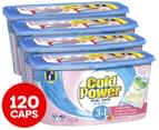 4 x 30pk Cold Power 3 in 1 Sensitive Laundry Detergent Dual Capsules 1