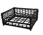 Set 2pcs Hondje Outdoor Wicker Rope , Raised Pet Bed, Dog Beds , Pet Sofa, Dog Lounge For Small Medium Size Dog With Cushion - Black 5