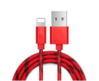 Five Pack of Braided Universal Lightning Cables for iPad or iPhone 4