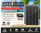 ATEM POWER Pair 12V 130W Solar Panel Kit Mono Generator Caravan Battery Charging 130watt 2