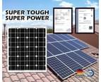 ATEM POWER 60W Solar Panel Kit 12V Mono Generator Caravan Camping Battery Power Charging 7