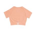 Onedown Health Seamless Women's Crop Tee - Peach 1