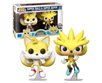 Funko POP! Sonic The Hedgehog Super Tails & Super Silver Limited Edition 1
