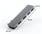 USB-C Hub Adapter for Macbook Pro Macbook Air 5 in 1 with Dual 2 x HDMI Ports 2 x USB Ports and Power Delivery Type C (Grey) 4