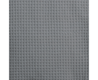 Hilton Waffle Quilt Cover Set - King Quilt Cover and Two Pillowcases - Grey 2