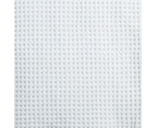 Hilton Waffle Quilt Cover Set - King Quilt Cover and Two Pillowcases - White 2