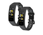 Smart Watch Body Thermometer Temperature BPM Monitor Fitness Band - Black Pair Combo 1