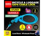 Handy Hardware 2PK Cable Lock With Keys Bicycle Luggage Secure 60cm x 7.5mm 3