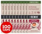 10 x 10pk St Remio Nespresso Intense Compostable Coffee Capsules 1