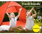 Mountview Pop Up Beach Tent Caming Portable Shelter Shade 2 Person Tents Fish - Orange 5