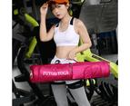Fitness Sports Yoga Knapsack Large Capacity Storage Yoga Mat Bag- L - Rose Red 3