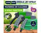 Garden Greens 2PK Hose Garden Connector Single Jet Spray 2 Function Mist Jet 3