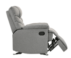 Eliving Rocking Recliner Chair Swing Glider Light Grey Fabric 4