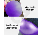 Yoga Ball with Pump for Pilates Gym Home Exercise & Rehab 85cm Purple 2