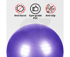 Yoga Ball with Pump for Pilates Gym Home Exercise & Rehab 85cm Purple 4