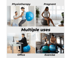 Yoga Ball with Pump for Pilates Gym Home Exercise & Rehab 85cm Purple 6